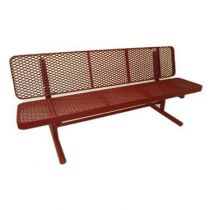 "Heavy-Duty Plastic-Coated Benches - 15"" Wide Seat"