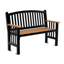 Mall Bench Arched Back