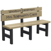 Kids' Height Engraved Bench