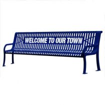 Plastic-Coated Personalized Benches