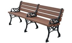 Classic Park Bench – Premium Wood Grain
