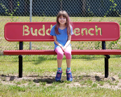 Cadence and the buddy bench